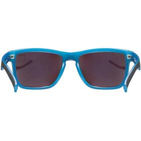 UVEX LGL 39 Bril, black matt blue/mirror blue